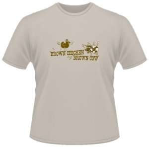 FUNNY T SHIRT  Brown Chicken Brown Cow Funny Toys & Games