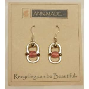 Ann Made Gold & Pink Earrings from Recycled Soda Cans