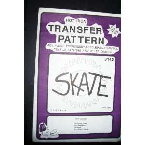 Hot Iron Transfer Pattern #3142 SKATE (For Punch