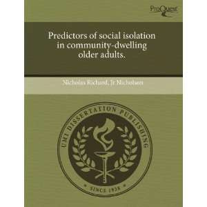 Predictors of social isolation in community dwelling older