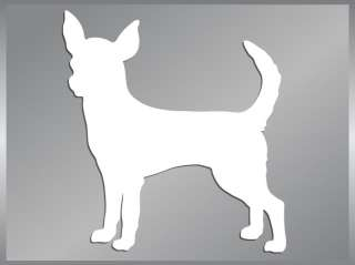 CHIHUAHUA Silhouette cut vinyl decal dog car sticker #1
