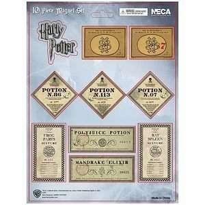 Harry Potter Magnet Set Slughorns Potion Bottle Labels