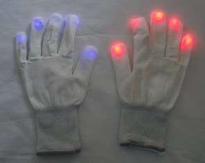 10 Pair Multi Color Flashing Blinking LED Light Up Gloves Mitts