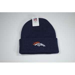Denver Broncos Cuffed Navy Blue Beanie Winter Hat Cap