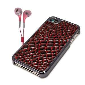 Apple iphone 4S Accessories Kit Vangoddy Red Snake Skin