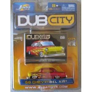 Dub City 2004 56 Chevy Bel Air Red Flames: Toys & Games