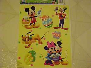 NEW DISNEY MICKEY MOUSE & FRIENDS EASTER WINDOW CLINGS