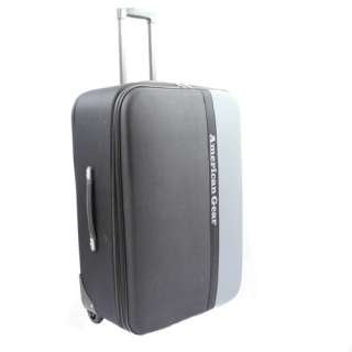 American Gear Expandable Upright 3 Piece Luggage Set   Black & Gray