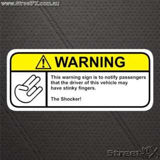 THE SHOCKER Visor Warning sticker decal by STREETFXX