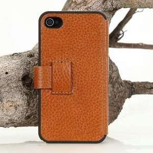 Apple iPhone 4 / 4s Opening Side Flip Genuine Leather Case