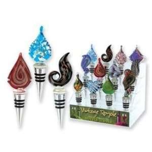 Handcrafted Designer Art Glass Bottle Stoppers Case Pack