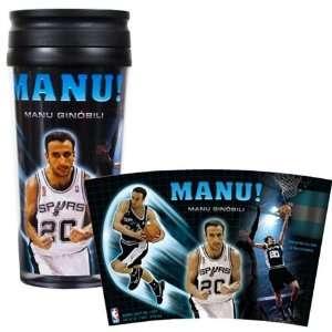Manu Ginobili San Antonio Spurs Plastic Cup Travel Tumbler