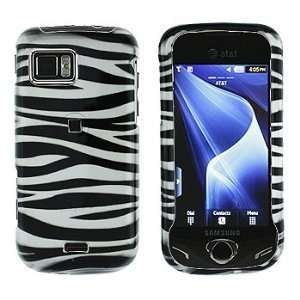 Samsung A897/Mythic Black Zebra Skin Hard Case Cover Protector (free