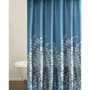 City Scene 174095 Branches Shower Curtain in Blue: Home