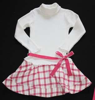Deux Par Deux College Girl Drop Waist Sweater Dress 6