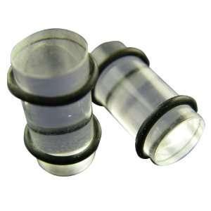 Clear Bullet Ear Plugs   Clear Acrylic Ear Gauges Toys & Games