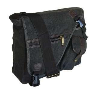 MILITARY INSPIRED CANVAS MESSENGER BAG BACKPACK BLACK