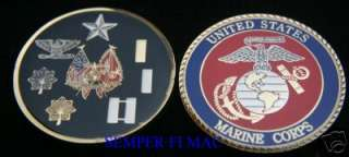 FOUR STAR US MARINE GENERAL MARINES CHALLENGE COIN