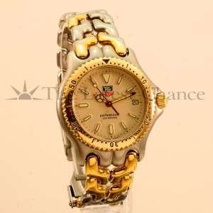 Mens Midsize Tag Heuer SEL Two tone Gold Plated Wristwatch Great