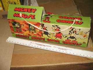DISNEY 1930s Mickey Mouse Comic Cookies box playset house,premium