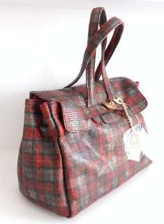 SECRET PON PON borsa bag scacco scozzese rossa handbag