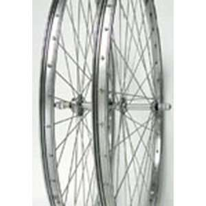 26x1 3/8, Rear, B/O, C/B, Chrome Steel Wheel