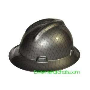 MSA V gard Full Brim Diamond Plate Pattern Hard Hat w