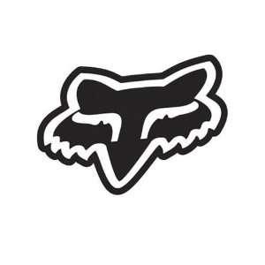 Racing Fox Logo Solid Face   Vinyl Decal Sticker 3 BLACK Automotive