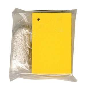100 (2 1/8x3 1/4) Blank YELLOW Hang Tags & 100 Cut Strings