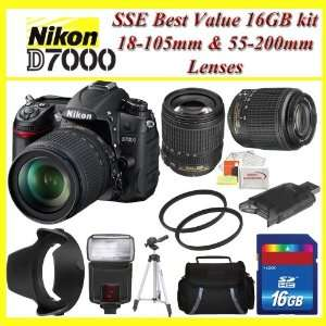 Nikon D7000 16.2MP DX Format CMOS Digital SLR with 3.0