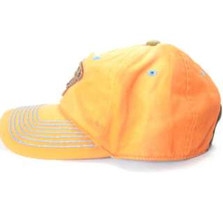 TRUE RELIGION JEANS ORANGE UNISEX STRAP CAP HAT $75