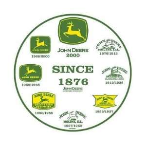 John Deere Tractor History of Logos Tin Sign Everything Else