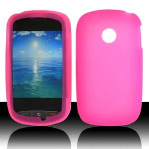 Net10 LG 800g Rubber SILICONE Soft Gel Skin Case Cover Hot Pink