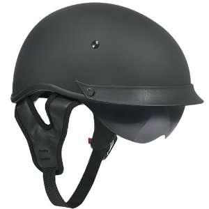 Outlaw T 72 Dual Visor Half Helmet   Matte Black   XXL