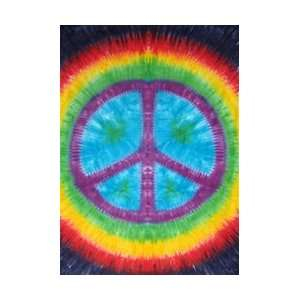 Rainbow Peace Sign Tapestry