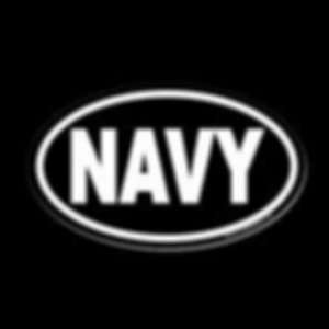 6 White Oval o Usn Navy Vinyl Decal Sticker