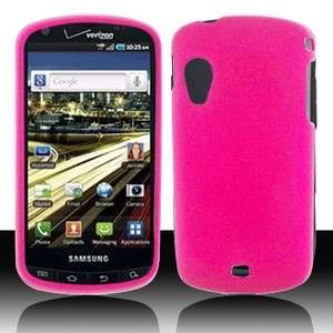 Rubber Hot Pink Rubberized HARD Case Phone Cover for Samsung
