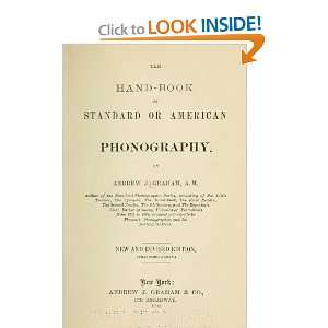 Book Of Standard Or American Phonography Andrew Jackson Graham Books