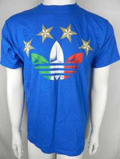 ITALY WORLD CUP SOCCER NEW Mens Royal Blue Shirt Size S M L