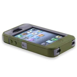 OtterBox Defender Grey/Envy Green Case+PRIVACY Filter Protector for
