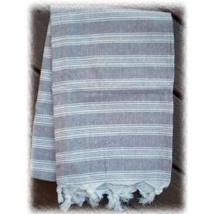 Brown Stripe Turkish Cotton Pestemal Towel