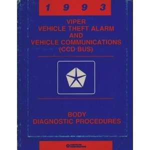 1993 Dodge Viper RT/10 Vehicle Theft Alarm and Vehicle Communications