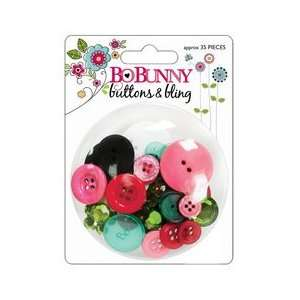 Petal Pushers Buttons & Bling Approximately 35 Pieces