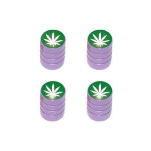 Marijuana Leaf   Weed Pot Tire Valve Stem Caps   Purple