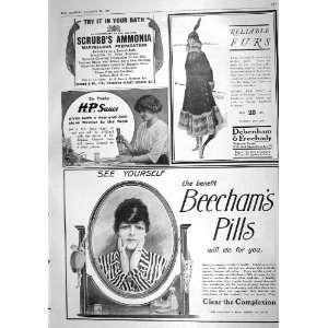1916 Advertisement Beechams Pills Debenham Freebody H.P