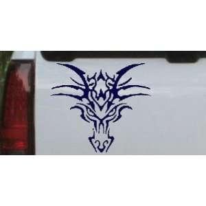 6in X 6.6in Navy    Tribal Dragon Car Window Wall Laptop