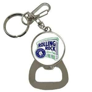 Rolling Rock Beer LOGO Bottle Opener Key Chain Everything