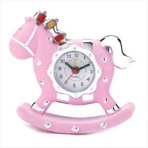 Pink Rocking Horse Clock: Home & Kitchen