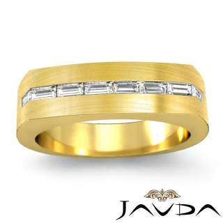 5c Diamond Man Men Channel Wedding Band Y18k Gold s10