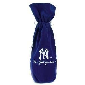 New York Yankees Velvet Wine Gift Bag
